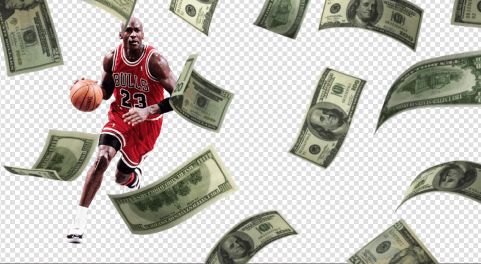 כמה כסף שווה הכדורסלן האגדי מייקל ג'ורדן