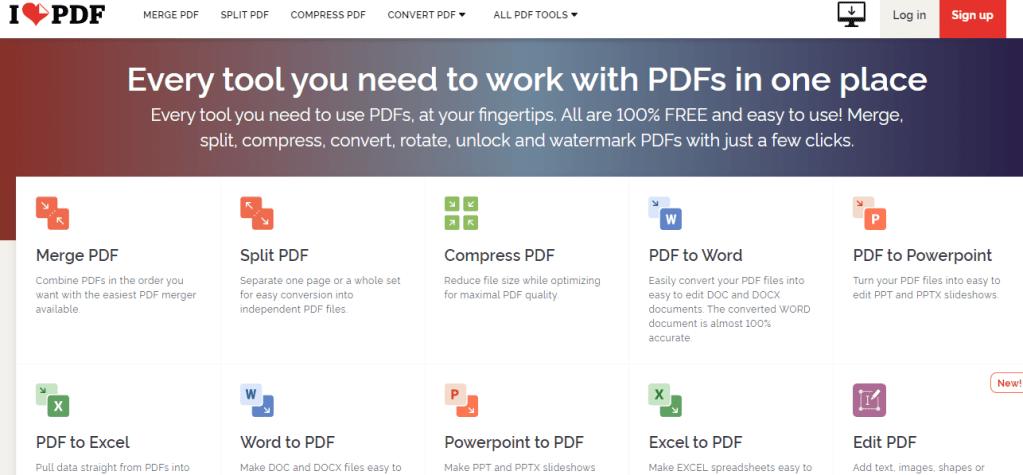 הכירו את  I love Pdf הכלי הכי שימושי ליצירה ועריכת Pdf בחינם