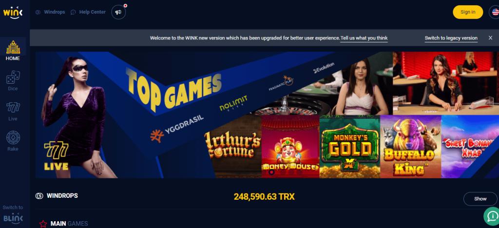 סקירה על מטבע הקריפטו של המשחקים באינטרנט (WINK ׁ - (WIN